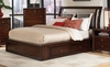 King Size Bed - Nadine Eastern King Size Bed in Dark Mahogany - Coaster - 201331KE