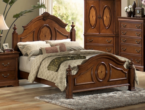 King Size Bed - Richardson Eastern King Size Bed in Rich Caramel - Coaster - 200481KE