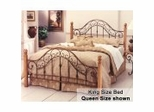 King Size Bed - San Marco Eastern King Size Metal Bed