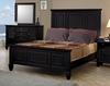 King Size Bed - Sandy Beach Eastern King Size Bed in Black - Coaster - 201321KE