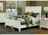 King Size Bed - Sandy Beach Eastern King Size Bed in White - Coaster - 201301KE