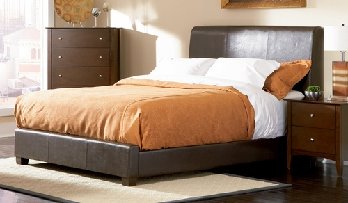 King Size Bed - Tamara Eastern King Size Bed in Walnut - Coaster - 201150KE