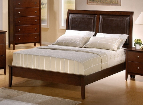 King Size Bed - Tamara Eastern King Size Bed in Walnut - Coaster - 201151KE