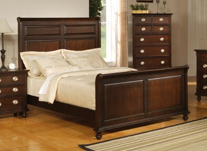 King Size Bed - Temre Eastern King Size Bed in Rich Cappuccino - Coaster - 201571KE
