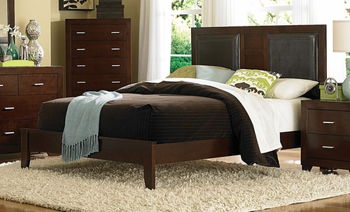 King Size Bed - Tiffany Eastern King Size Bed in Country Cherry - Coaster - 200761KE