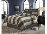 King Size Comforter Set - 14 Piece Set in Skyline Pattern - 82EQ713SKY