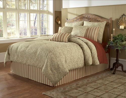 King Size Comforter Set - 14 Piece Set in Sylvia Pattern - 82EQ713SYL