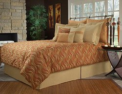 King Size Comforter Set - 14-Piece Super Pack in Ipanema Spice Pattern - 80EQ713IPA