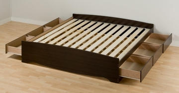 King Size Platform Storage Bed - Prepac Furniture - EBK-8400