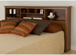King Size Storage Headboard in Cherry - Monterey Collection - Prepac Furniture - CSH-8445