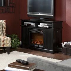 Kingsbury Media Black Electric Fireplace - Holly and Martin