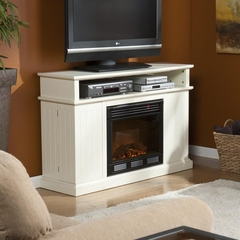 Kingsbury Media Ivory Electric Fireplace - Holly and Martin
