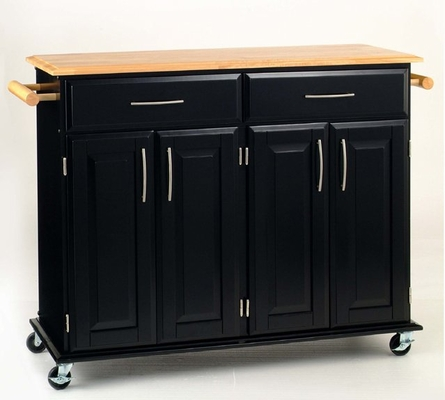 Kitchen Cart - Dolly Madison Black Island Cart - Home Styles - 4528-95
