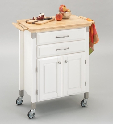 Kitchen Cart - Dolly Madison White Prep and Serve - Home Styles - 4509-95
