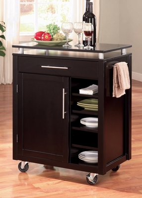 Kitchen Cart in Black - Coaster
