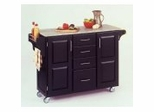 Kitchen Cart in Black with Granite top - 91001043