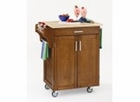 Kitchen Cart in Cottage Oak with Wood top - 90010061