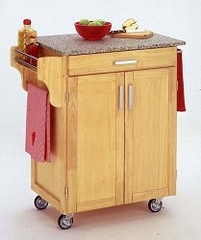 Kitchen Cart in Natural with Granite top - 90010013