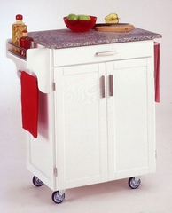 Kitchen Cart in White with Granite top - 90010023
