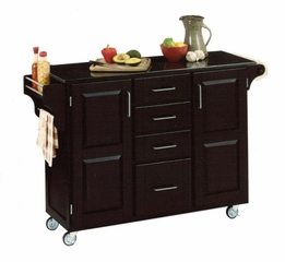 Kitchen Cart - Large Create-a-Cart with Granite Top in Black - Home Styles - 9100-1045