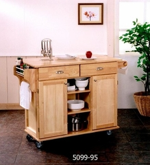 Kitchen Cart - Napa Kitchen Center in Natural Finish - 5099-95