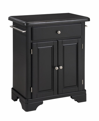 Kitchen Cart with Black Granite Top in Black - Home Styles - 9003-0044