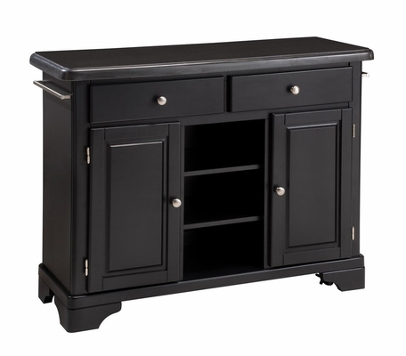 Kitchen Cart with Black Granite Top in Black - Home Styles - 9300-1044
