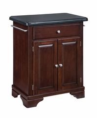 Kitchen Cart with Black Granite Top in Cherry - Home Styles - 9003-0074