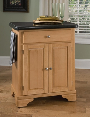 Kitchen Cart with Black Granite Top in Maple - Home Styles - 9003-0094
