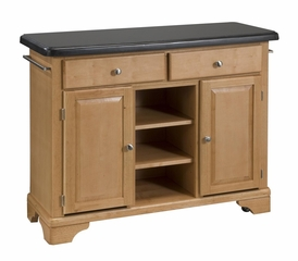 Kitchen Cart with Black Granite Top in Maple - Home Styles - 9300-1094