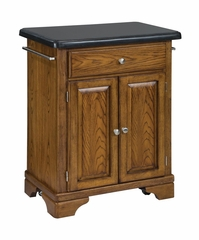 Kitchen Cart with Black Granite Top in Oak - Home Styles - 9003-0064