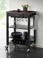 Kitchen Cart with Butcher Block Top - 910026