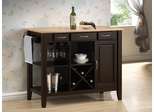 Kitchen Cart with Butcher Block Top - 910028
