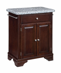 Kitchen Cart with Gray Granite Top in Cherry - Home Styles - 9003-0073