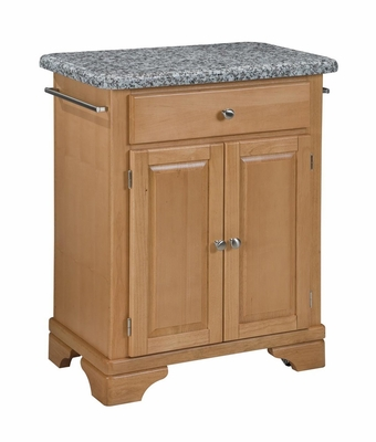 Kitchen Cart with Gray Granite Top in Maple - Home Styles - 9003-0093
