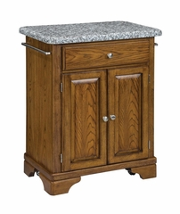 Kitchen Cart with Gray Granite Top in Oak - Home Styles - 9003-0063