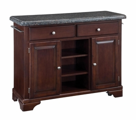 Kitchen Cart with Salmon Granite Top in Cherry - Home Styles - 9300-1075