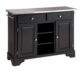 Kitchen Cart with Stainless Top in Black - Home Styles - 9300-1042
