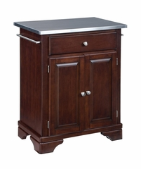 Kitchen Cart with Stainless Top in Cherry - Home Styles - 9003-0072