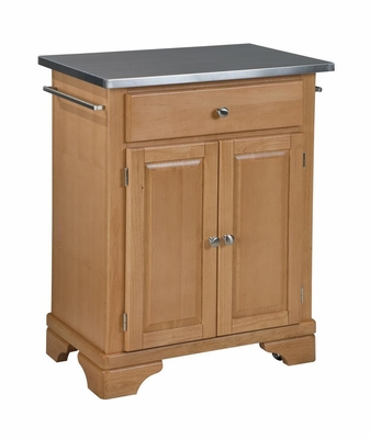 Kitchen Cart with Stainless Top in Maple - Home Styles - 9003-0092