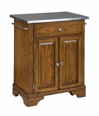 Kitchen Cart with Stainless Top in Oak - Home Styles - 9003-0062