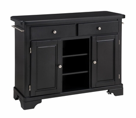 Kitchen Cart with Wood Top in Black - Home Styles - 9300-1041