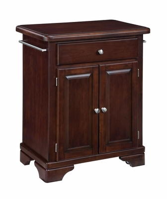 Kitchen Cart with Wood Top in Cherry - Home Styles - 9003-0071