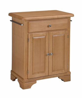Kitchen Cart with Wood Top in Maple - Home Styles - 9003-0091