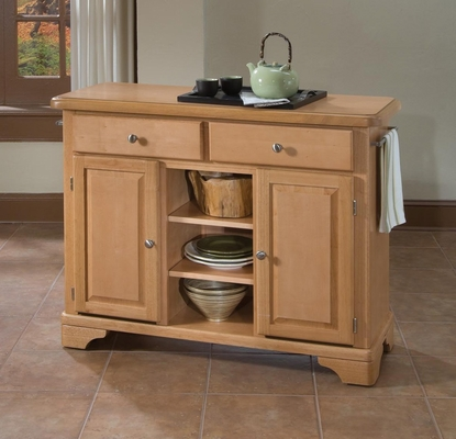 Kitchen Cart with Wood Top in Maple - Home Styles - 9300-1091