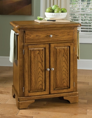 Kitchen Cart with Wood Top in Oak - Home Styles - 9003-0061