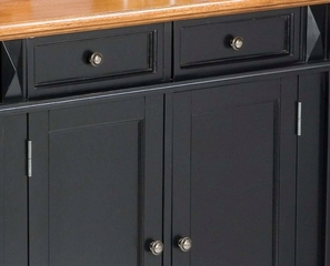 Kitchen Island in Black with Oak Top - Home Styles - 5003-94