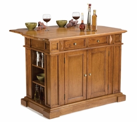 Kitchen Island in Cottage with Oak Top - Home Styles - 5004-94