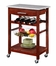 Kitchen Island with Granite Top - Linon Furniture - 44037WENGE-01-KD-U