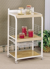 Kitchen Rack with Basket in White - Coaster